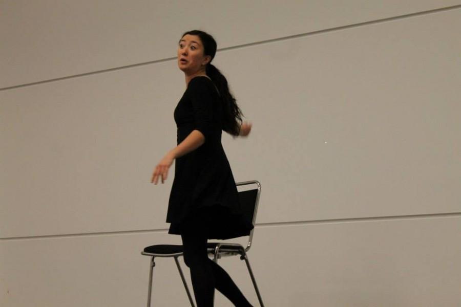 Senior Rebekah Hwang performing her Individual Event at the Colorado Thespian Festival