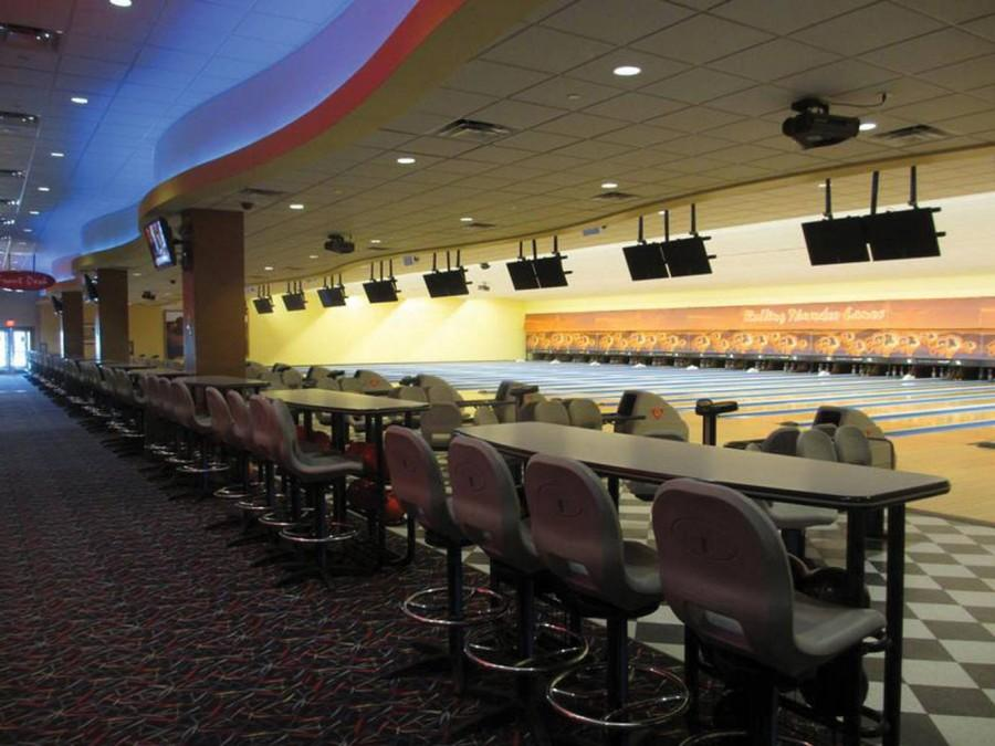 An empty bowling alley at Sky Ute Casino Resort