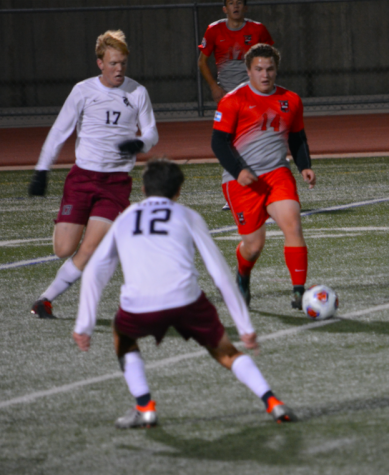 Sr. Austin Kelly takes possession of the ball