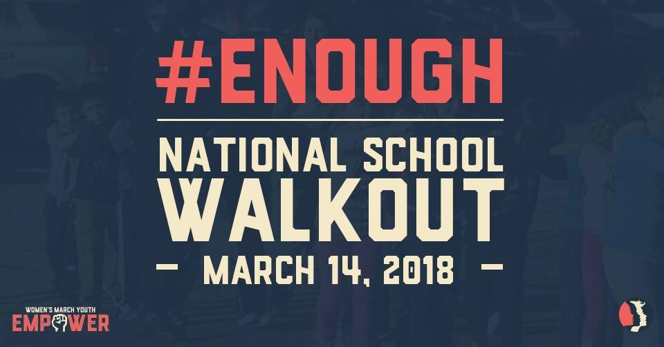 The official National School Walkout day will take place on March 14, 2018, a month after the shooting in Parkland.