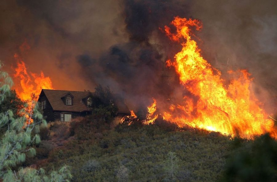 Wildfires raged on in California for most of October, destroying homes and properties. At least 5,700 building were lost and there are 21 confirmed deaths.